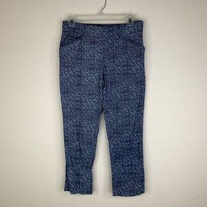 Anthropologie Cartonnier blue Cropped Pants Size 2